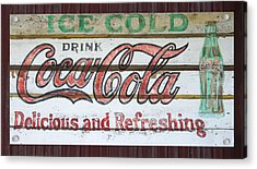 Antique Coca Cola Sign  Acrylic Print