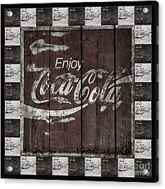 Antique Coca Cola Signs Acrylic Print by John Stephens