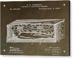 Antique Coffin Patent Acrylic Print