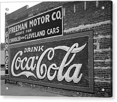 Antique Cola Sign Acrylic Print by Ann Powell