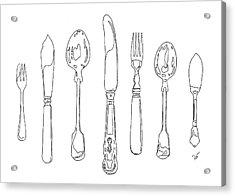 Antique Cutlery Full House Acrylic Print