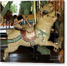 Acrylic Print featuring the photograph Antique Dentzel Menagerie Carousel Pigs by Rose Santuci-Sofranko