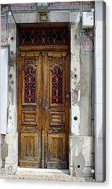 Antique Door In Lisbon Acrylic Print