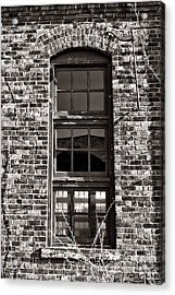Antique Factory Window Acrylic Print by Olivier Le Queinec