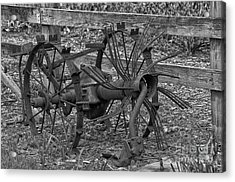 Acrylic Print featuring the photograph Antique Farm Equipment by JRP Photography