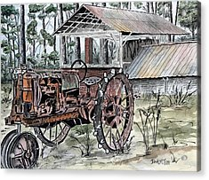 Antique Farm Tractor   Acrylic Print