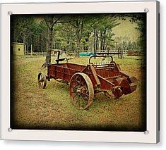 Antique Farm Wagon Acrylic Print by Dianne  Lacourciere