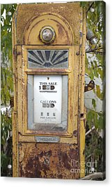 Antique Gas Pump Acrylic Print by Peter French