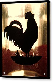 Antique Glass Chicken Silhouette Acrylic Print