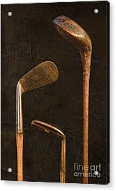 Antique Golf Clubs Acrylic Print