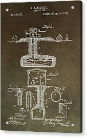 Antique Grave Alarm Patent Acrylic Print