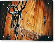 Antique Keys And Rings Acrylic Print