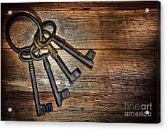Antique Keys Acrylic Print by Olivier Le Queinec