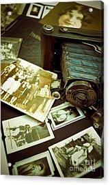 Antique Kodak Camera And Vintage Photographs Acrylic Print by Amy Cicconi