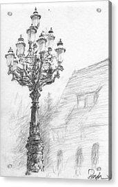 Antique Lampost Acrylic Print by Horacio Prada