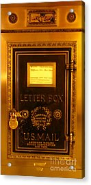 Antique Letter Box At The Brown Palace Hotel Acrylic Print by John Malone
