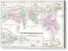Antique Long Island Map Acrylic Print