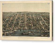 Antique Map Of Alexandria Virginia By Charles Magnus - 1863 Acrylic Print by Blue Monocle