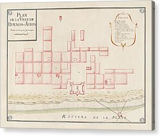 Antique Map Of Buenos Aires Argentina By Jacques Nicolas Bellin - Circa 1739 Acrylic Print by Blue Monocle