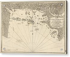 Antique Map Of Casco Bay And Portland Maine By Cyprian Southack - 1779 Acrylic Print