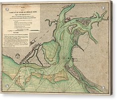 Antique Map Of Charleston Harbor South Carolina - 1778 Acrylic Print