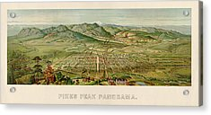 Antique Map Of Colorado Springs By H. Wellge - 1890 Acrylic Print
