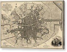 Antique Map Of Dublin Ireland By William Faden - 1797 Acrylic Print