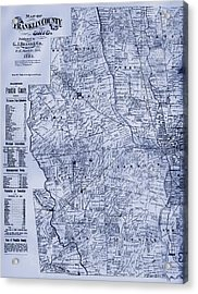 Antique Map Of Franklin County Ohio 1883 Acrylic Print