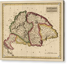Antique Map Of Hungary By Fielding Lucas - Circa 1817 Acrylic Print