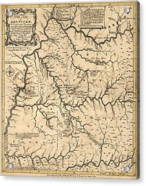 Antique Map Of Kentucky By John Filson - 1784 Acrylic Print by Blue Monocle