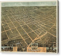 Antique Map Of Lexington Kentucky By A. Ruger - 1871 Acrylic Print