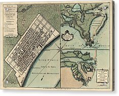 Antique Map Of New Orleans By Thomas Jefferys - 1759 Acrylic Print by Blue Monocle