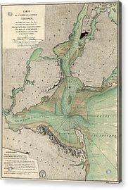 Antique Map Of New York City - 1778 Acrylic Print