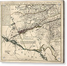 Antique Map Of New York State And Vermont By Covens Et Mortier - 1780 Acrylic Print