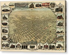 Antique Map Of San Jose California - Circa 1901 Acrylic Print by Blue Monocle
