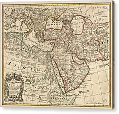 Antique Map Of The Middle East By Guillaume Delisle - 1721 Acrylic Print by Blue Monocle