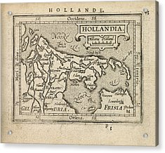 Antique Map Of The Netherlands By Abraham Ortelius - 1603 Acrylic Print