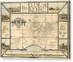 Antique Map Of Tombstone Arizona By Frank S. Ingoldsby - 1881 Acrylic Print