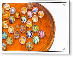 Antique Marbles - Vintage Toys Acrylic Print by Colleen Kammerer