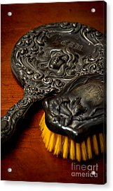 Antique Mirror And Brush Acrylic Print by Amy Cicconi
