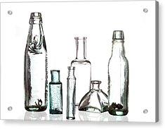 Antique Old Bottles Acrylic Print by Dirk Ercken