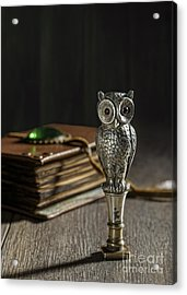 Antique Owl Seal Acrylic Print