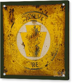 Antique Metal Pennsylvania Forest Fire Warden Sign Acrylic Print by John Stephens