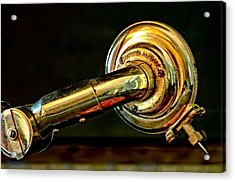 Antique Phonograph Tonearm Acrylic Print by Stephen Anderson