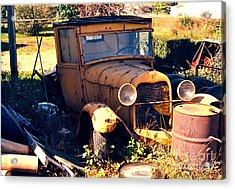 Antique Pick-up Truck Rusting Away Acrylic Print by Robert Birkenes