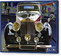 Acrylic Print featuring the digital art Antique Rolls Royce by Victoria Harrington