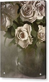 Acrylic Print featuring the photograph Antique Roses by Annie Snel