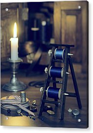 Antique Sewing Items Acrylic Print