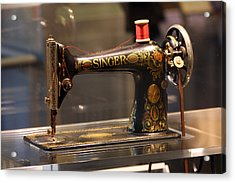 Antique Sewing Machine  Acrylic Print by Vadim Levin