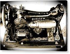 Antique Singer Acrylic Print